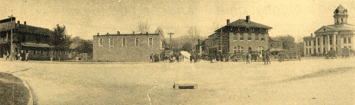 old photo of Bryson City square